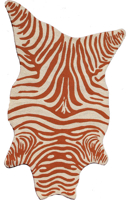 Resort Zebra Shaped Rug Contemporary Novelty Rugs By