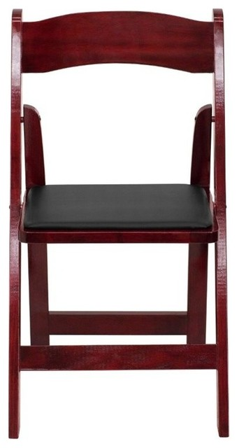 Phenomenal Bowery Hill Wood Folding Chair In Mahogany Gmtry Best Dining Table And Chair Ideas Images Gmtryco
