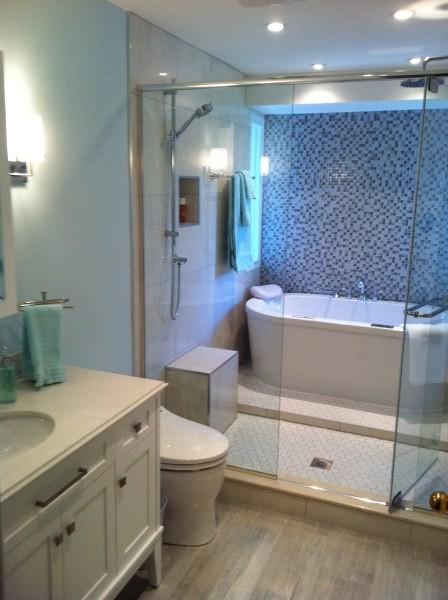 combined shower bath
