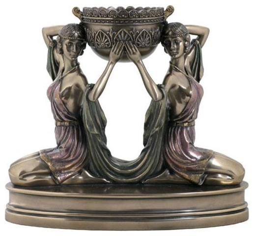 Egyptian Maiden Candle holder home decor