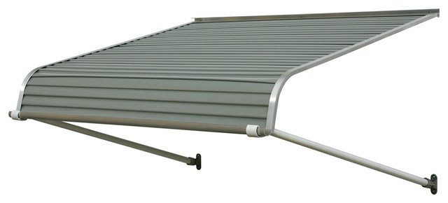 1100 Series Aluminum Door Canopy 60x54 Projection, Graystone.