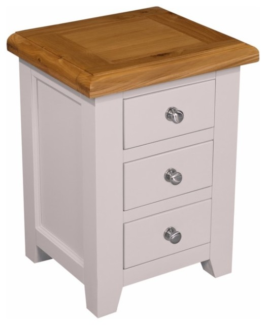 Ventry 3-Drawer Bedside Table, 1 Table