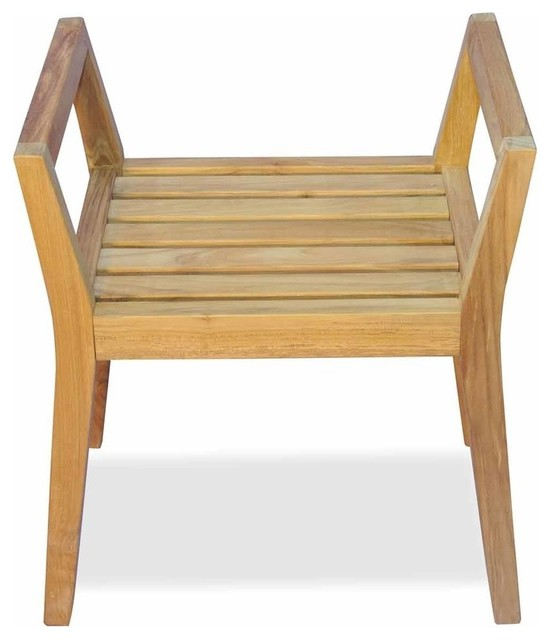 Fantastic Teak Shower Bench With Arms By Regal Teak Download Free Architecture Designs Grimeyleaguecom