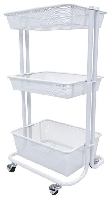 Storage Cart In White.