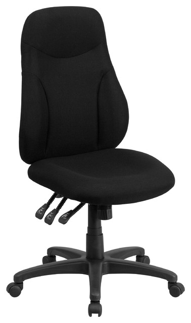 MFO High Back Black Fabric Multi-Functional Ergonomic Chair