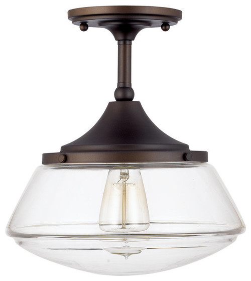 Baxter Semi-Flush Mount, Burnished Bronze