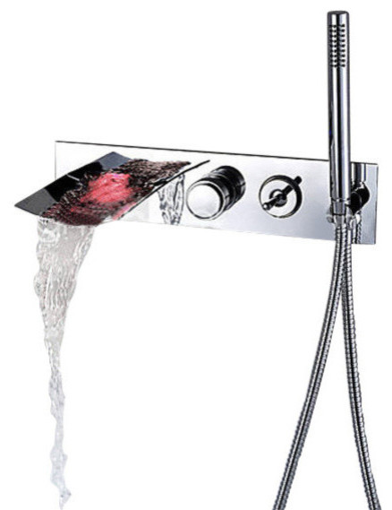Goldberg Single Handle Wall Mounted Tub Faucet With Hand Shower