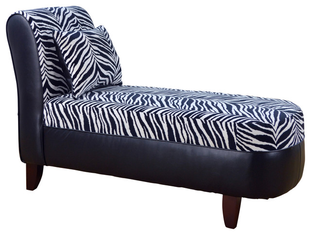 Tween Chaise Zebra Black White With Bravo Black transitional-indoor-chaise- lounge  sc 1 st  Houzz : zebra chaise lounge - Sectionals, Sofas & Couches