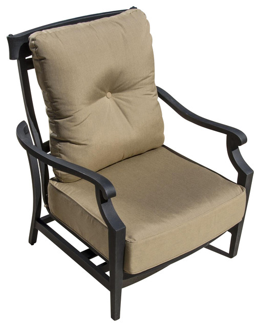st charles cast aluminum motion patio club chair