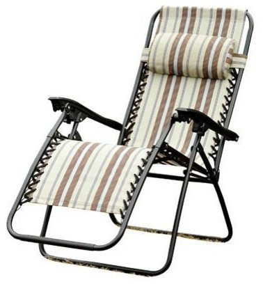 Outsunny Zero Gravity Recliner Lounge Patio Pool Chair Multi Color Stripes