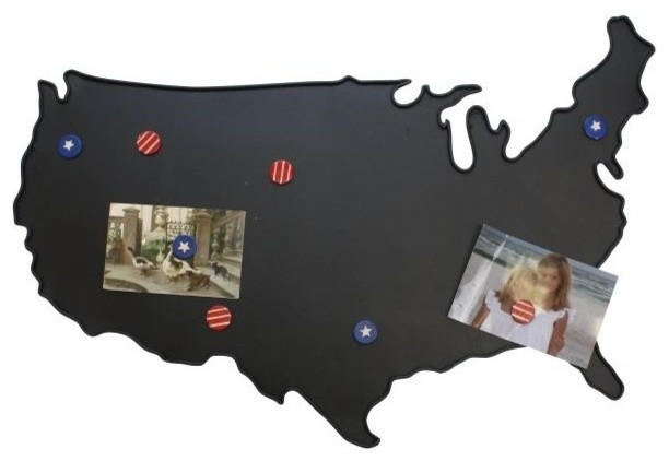 United States Map Magnets.Retro Black United States Map Message Board Magnetic Usa