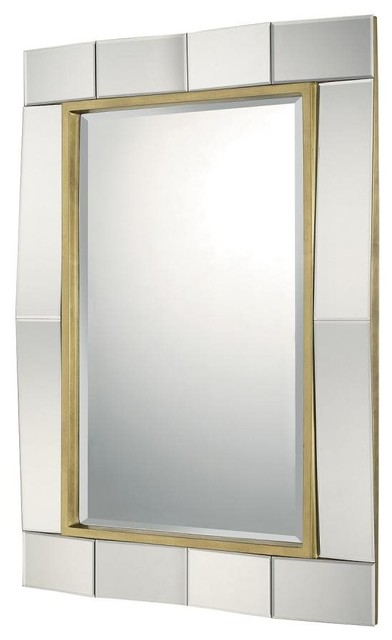 Capital Lighting Mirrors Rectangular Decorative Mirror 724501mm Gold Leaf