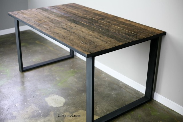 Dining Table/ Desk Modern Industrial, Mid Century, Rustic Modern
