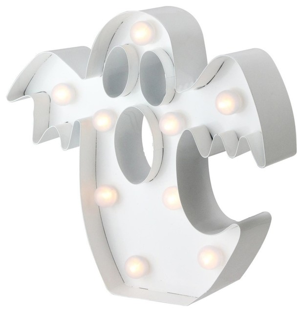 9.25 Led Battery Operated Marquee Ghost Halloween Decor.