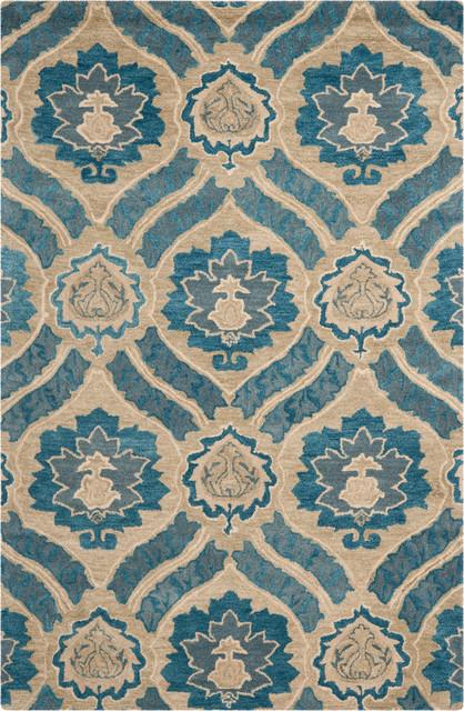 Safavieh Wyndham Wyd616a Blue Gray Rug Mediterranean