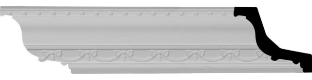 2 1//8H x 5 3//8P x 5 5//8F x 94 1//2L Foster Smooth Crown Moulding