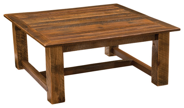 Shop houzz fireside lodge furniture company barnwood for Coffee table 40 x 24