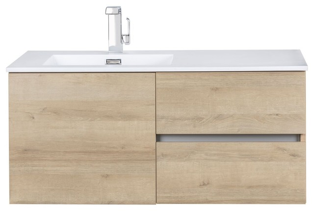 Beachwood Collection 42 Wall Mount Modern Bathroom Vanity Organic By Cutler Contemporary Bathroom Vanities And Sink Consoles By Tuscanbasins Houzz