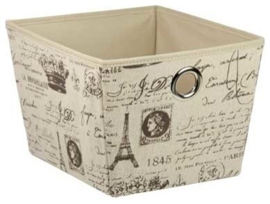 Good Non Woven Storage Box, Medium, Paris Contemporary Storage Bins And