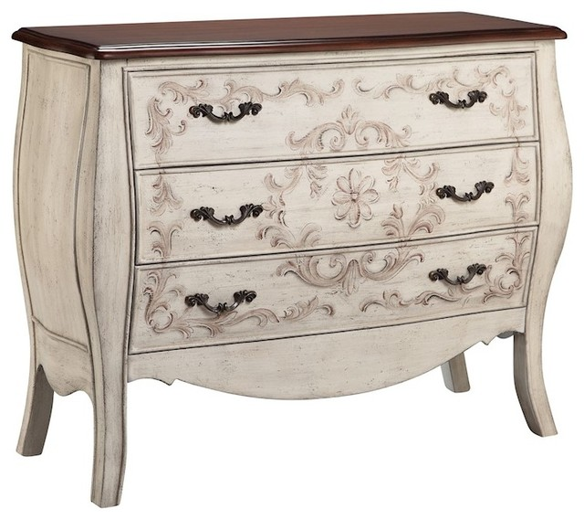 Stein World Fiona Chest Hand Painted Antique Pearl White Farmhouse Accent Chests And Cabinets By Freely