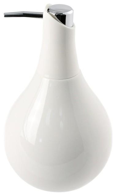 Ceramic Pottery Soap Dispenser White