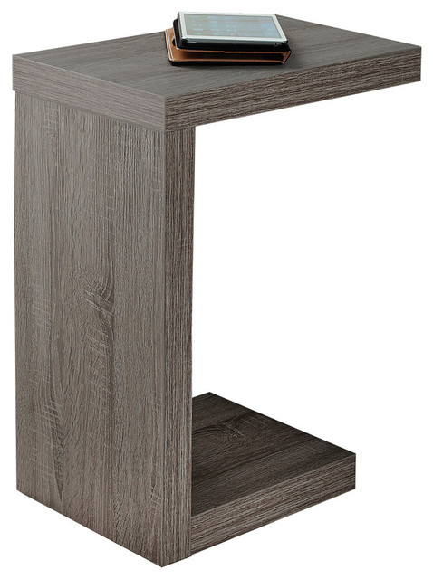 Accent Table, Dark Taupe.