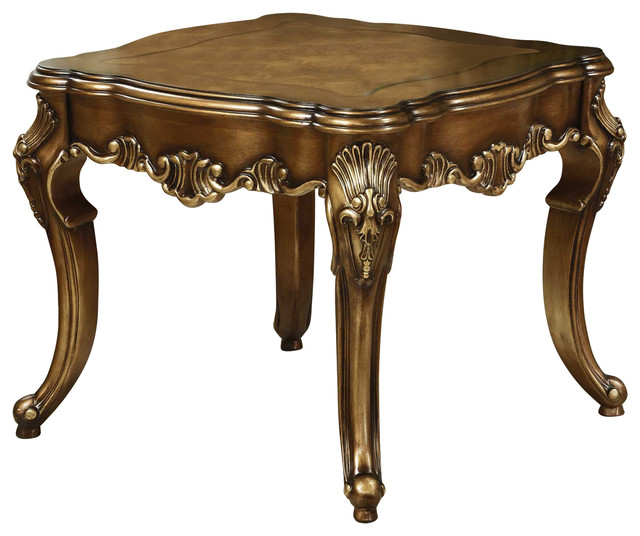 Victorian End Table Victoria End Table, Parisian Bronze - Victorian - Side Tables And End Tables  - by Savannah Collections