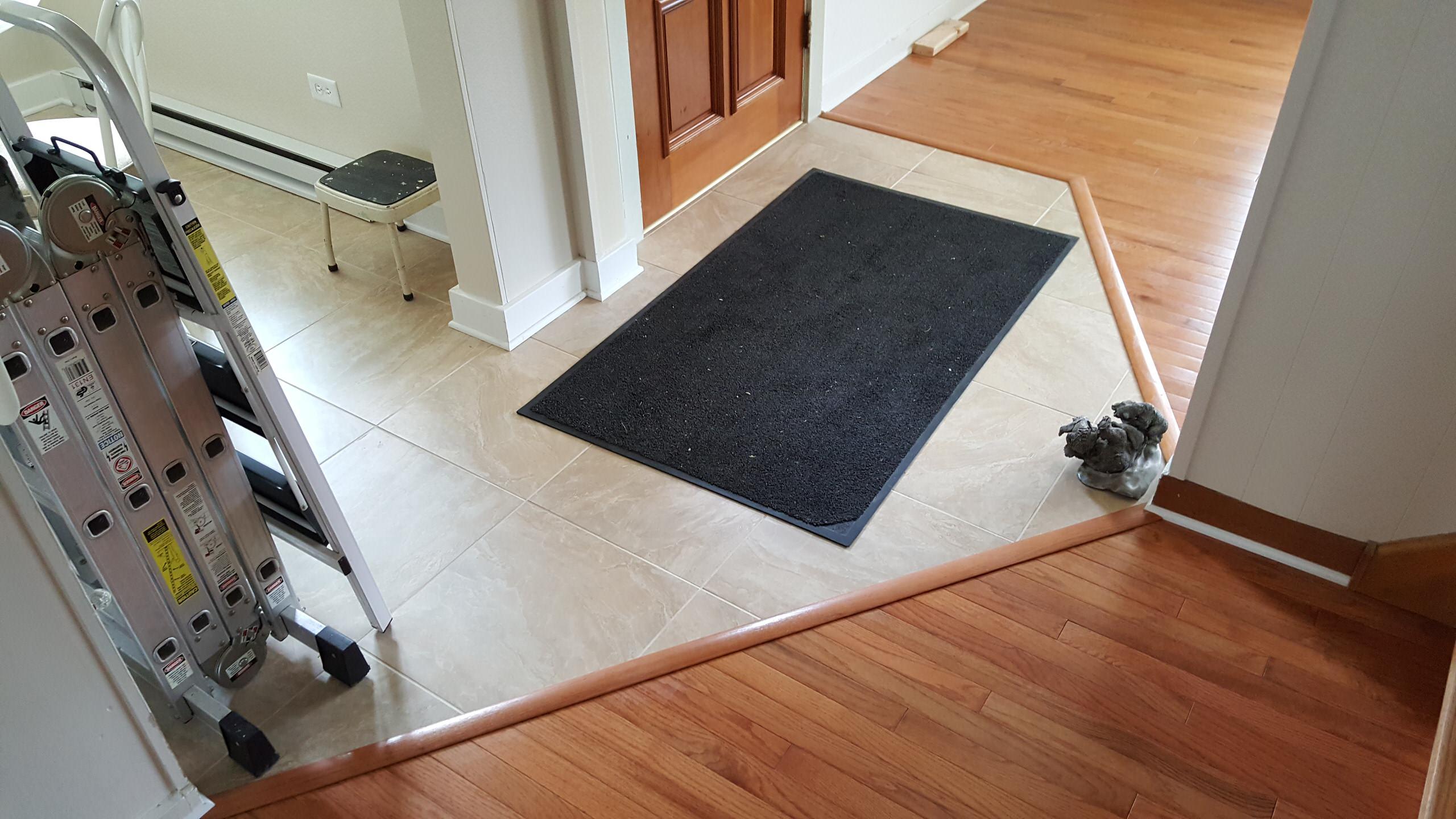 New tile and hardwood