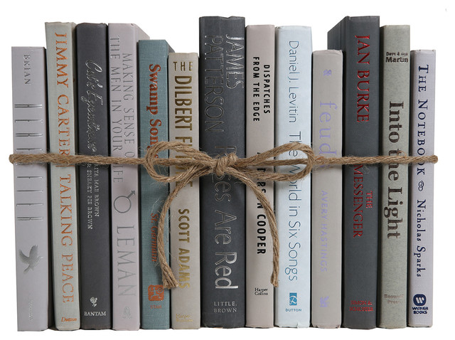 Decorative Books, Modern Grey and Charcoal ColorPak