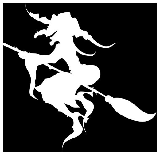 Witch On Broom Wall Decal Contemporary Wall Decals