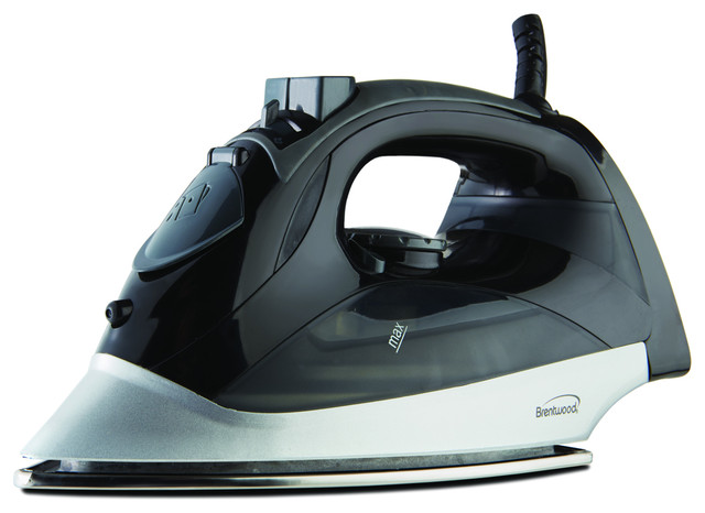 Brentwood Steam Iron With Auto Shut-Off, Black.