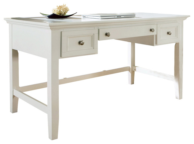steve silver oslo writing desk in white