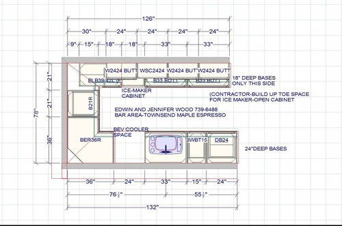 Bar height or counter height home bar for Basement bar dimensions plans