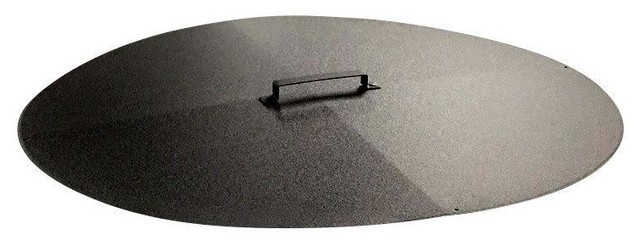Round Fire Pit Cover / Snuffer, 34 Inch - Round Fire Pit Cover / Snuffer - Transitional - Fire Pit Accessories