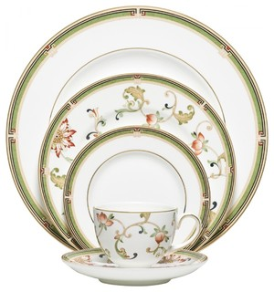 Wedgwood Oberon 5-Piece China Setting Set of 12 - Asian - Dinnerware Sets - by Tableware Gallery  sc 1 st  Houzz & Wedgwood Oberon 5-Piece China Setting Set of 12 - Asian ...