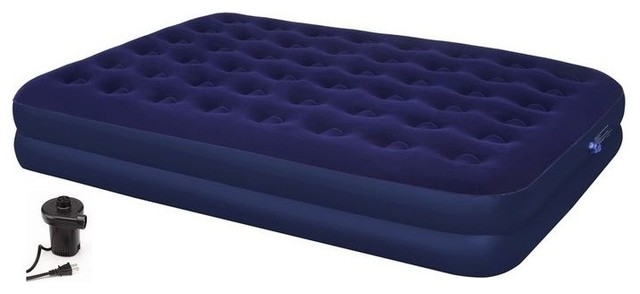 Second Avenue Collection Double Queen Air Mattress With Electric Air Pump.