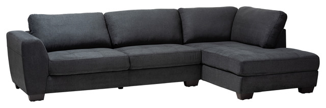 Pleasant Anissa Contemporary Right Facing Sectional Sofa Charcoal Uwap Interior Chair Design Uwaporg