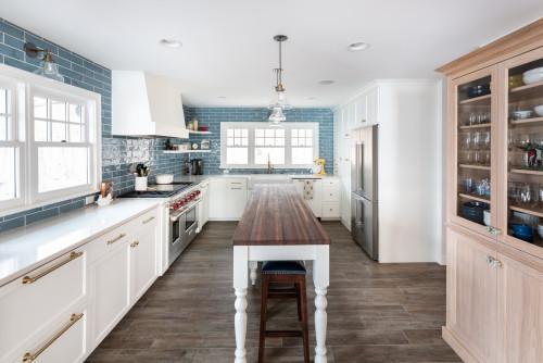 Đảo bếp phong cách kết hợp đồ nội thất độc đáo