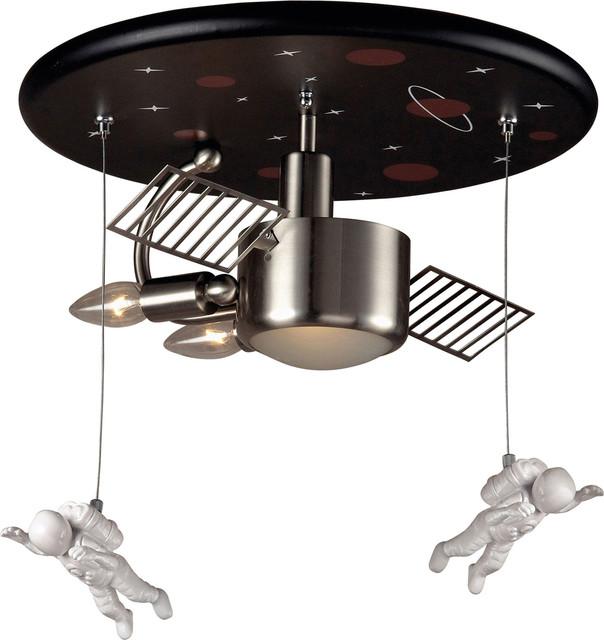 Elk Lighting 5089/3 Novelty 3 Light Astronaut Flush Mount Ceiling Fixture.