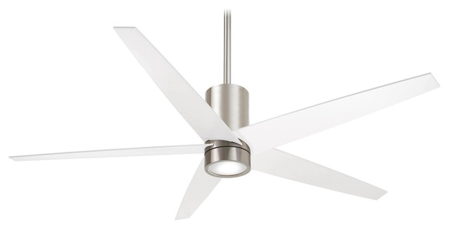 "Minka Aire Symbio Brushed Nickel 56"" Ceiling Fan."