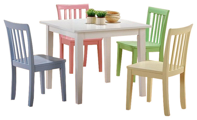 Coaster Table With Chair, Multi Color Contemporary Kids Tables And Chairs