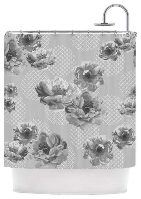 Curtains Ideas Black And White Flower Shower Curtain Inspiring Pictures Of Curtains Designs