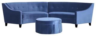 Atlanta small curved sofa with ottoman living room for Living room sets atlanta ga