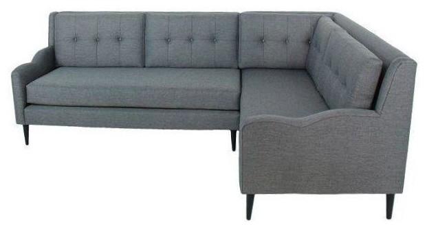 Genial Genova Mid Century Style Sectional Sofa Grey