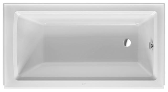 "Duravit Architec 60""x32"" Bathtub With Panel Height 19.25, Drain Right"
