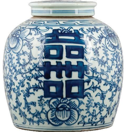 blue and white porcelain ginger jar - Ginger Jars