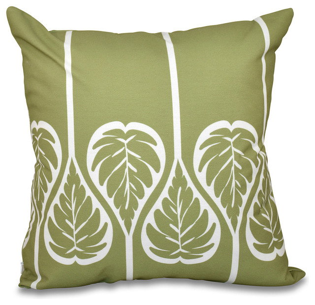 Shop Houzz E by Design Fern 2, Floral Outdoor Pillow - Outdoor Cushions And Pillows