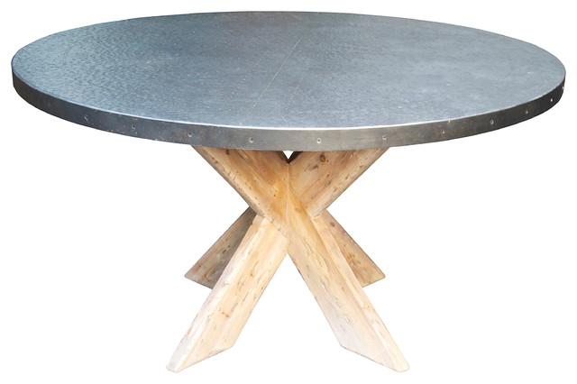 Austin Dining Table With Zinc Top 54