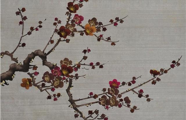 Prunus in rusty asiatique papier peint par fromental - Papier peint asiatique ...