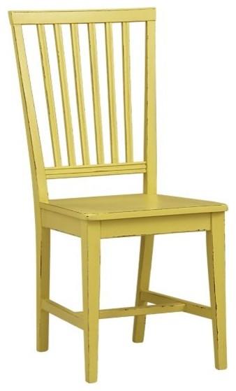 Village Citronella Yellow Side Chair| Crate&Barrel